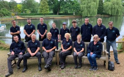 New uniform – thank you Canary Wharf Contractors!